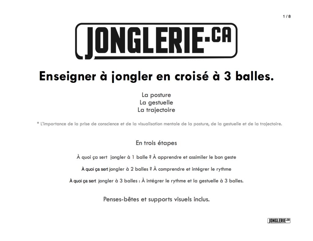 Enseigner à jongler