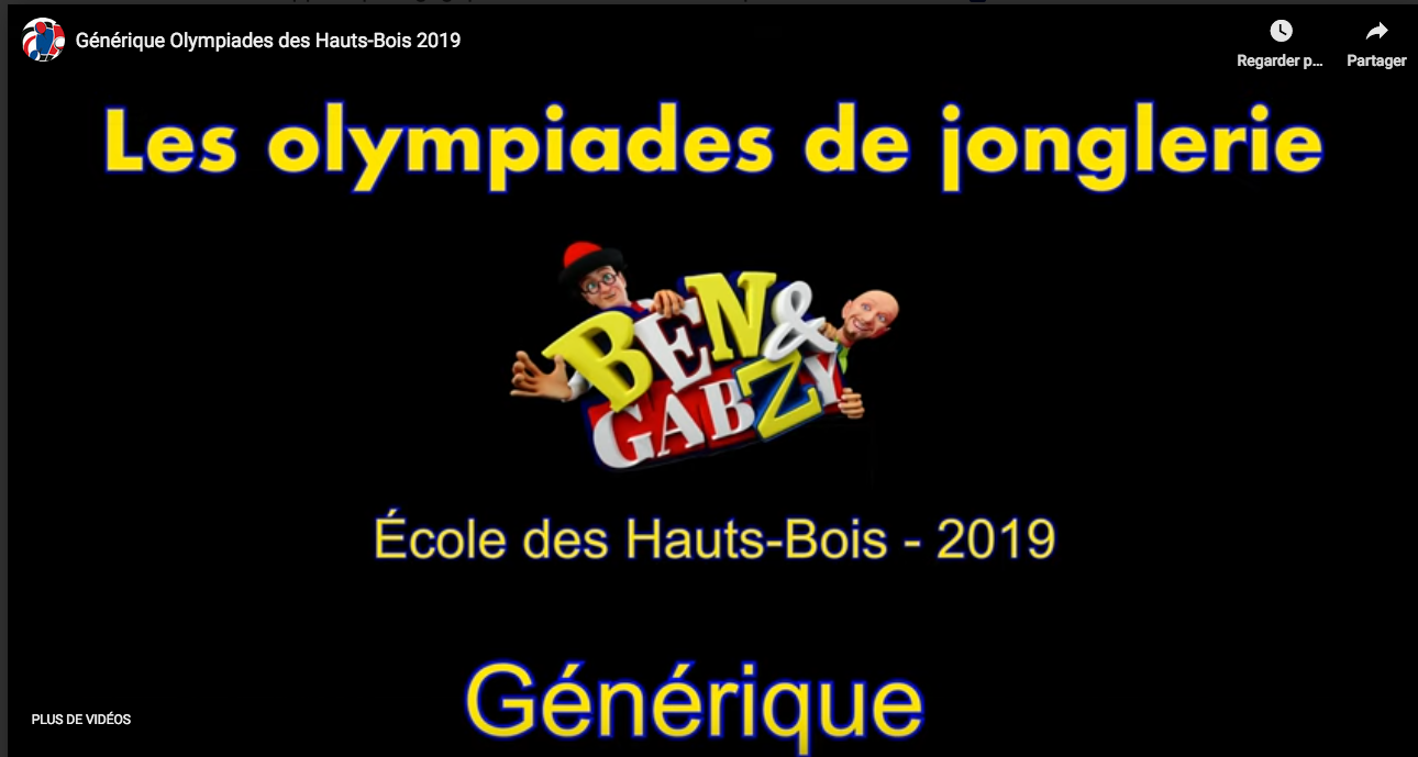 Olympiade École Haut-Bois 2019