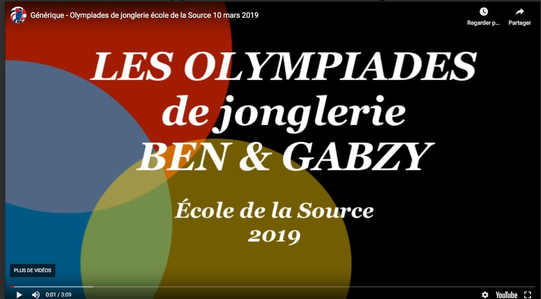 Olympiade École de la Source 2019